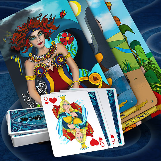 Tarot and Playing Cards by Annette Abolins