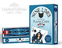 Nine Lives Playing Cards by Annette Abolins