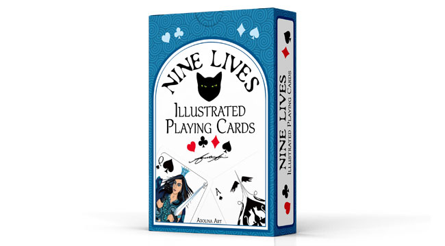 Nine Lives Illustrated Playing Cards - box