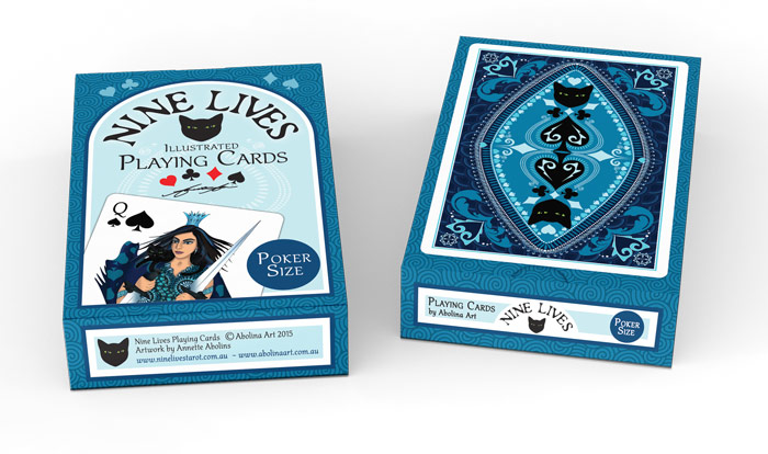 Nine Lives Playing Cards - poker size