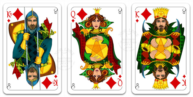 Royal Diamonds - Nine Lives Playing Cards
