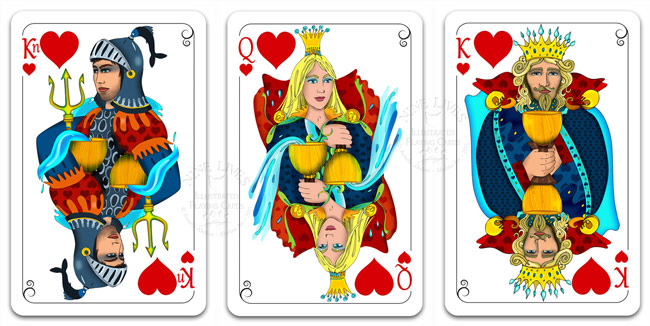 Royal Hearts - Nine Lives Playing Cards