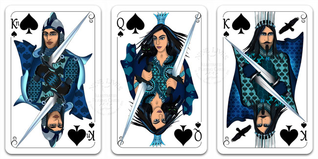 Royal Spades - Nine Lives Playing Cards