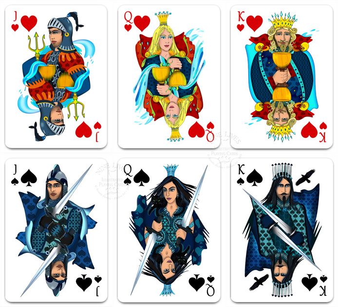 Nine Lives Playing Cards - court cards by Annette Abolins
